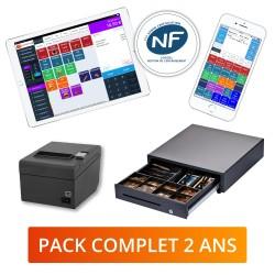 Pack Logiciel 2 ans matériel et logiciel de caisse enregistreuse